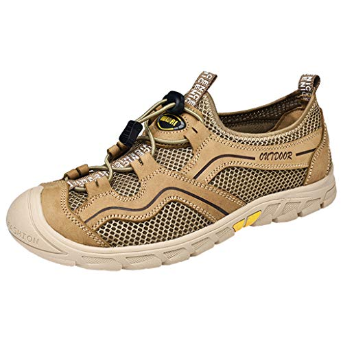 CUTUDE Herren Camouflage Sneaker Fashion Sportschuhe Atmungsaktive Turnschuhe leichte Netz Walkingschuhe Sommer (Braun, 46 EU)