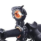 360 Grad justierbarer Fahrradhalterung Klemm, Fahrradhalterung Halterung für LED-Taschenlampe als Fahrradlampe