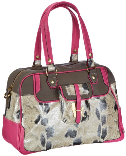 Poodlebag Funkyline - Exotic Remix - Golden Apple - pink snake 3FL0313GOLDP, Damen Shopper, Mehrfarbig (pink snake), 45x30x19 cm (B x H x T)