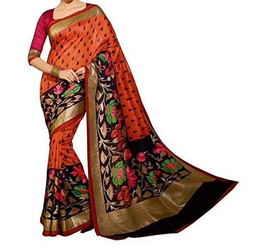 Sunshine Fashion Bhagalpuri Silk Printed Saree For Women (Maroon_SUNSA333)( New Arrival Latest Best Design Beautiful Saree Material Collection For Women and Girl Party wear Festival wear Special Function Events Wear In Low Price With Todays Special Offer with Fancy Designer Blouse and Bollywood Collection 2017 )  available at amazon for Rs.315