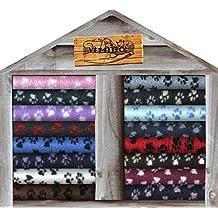 Vet Fleece - Ropa de Cama Antideslizante con diseño de Patas, Forro Polar para Perro