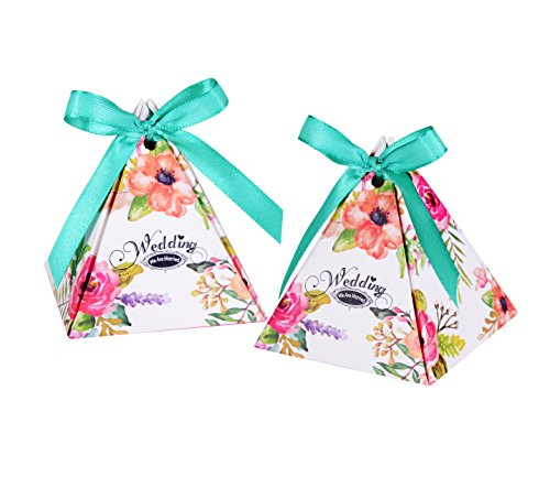 Wolfteeth 100 pz scatole portaconfetti bomboniere scatoline regalo con piccoli cartoncini di thank you per festa decorazioni matrimonio nozze compleanno