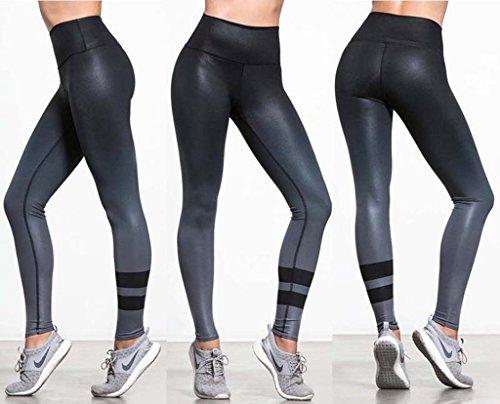 Gwell Femmes Pantalon de Jogging Collant de Sport Leggings de Yoga Vert / Bleu / Noir / Gris Noir