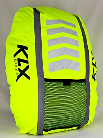 KLX Heavy Duty High Visibility Reflective Waterproof Rucksack Backpack Cover + Free Gift - INTRODUCTORY SALE!