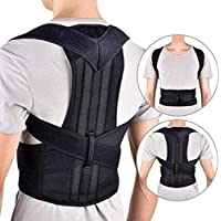 Kueh Back Brace Posture Corrector - Medical Grade Fully Adjustable Support Brace - Improves Posture and Provides Lumbar Support - for Lower and Upper Back Pain - Men and Women