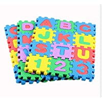36pcs Kids Baby Play Mat Puzzle Mats Carpet Rugs Babies Puzzle 26PCS Letters and 10 Numbers of Foam