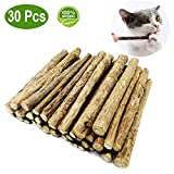 EasyMe 30 PCS Cat Catnip Sticks, Organic Natural Matatabi (Silver vine) Chew Sticks Teeth Grinding Chew Treats Toys for Cat Kitten Kitty