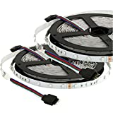 SUPERNIGHT RGB Lights 3528 LED Strip Flexible DC12V 32.8ft 10M (2 * 16.4ft 5M) Replacement 3528 smd led [Non-Waterproof] for Party Home Xmas Christmas Gifts Decorations - Not Contain the Power Supply