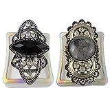 #3: eshoppee handicraft handcrafted export quality designer big finger rings set of 2 pcs for womens,adjustable size (ring 2)