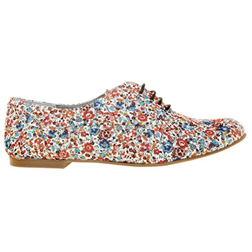 Multicolore Zoom Derbys marron Flow Chaussures Vintage Ippon Femme ZngYqxwSac