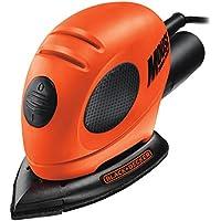 Black+Decker KA161BC-QS - Lijadora de detalles con 15 accesorios, 55 W, 230 V, color negro y naranja
