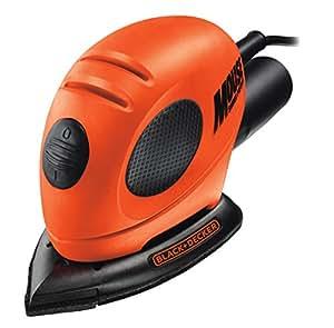 Black+Decker KA161BC-QS Mouse Levigatrice, 55 W, con Sacca di Nylon ed Accessori, Arancione, 25.4 x 16.5 x 10.4 cm