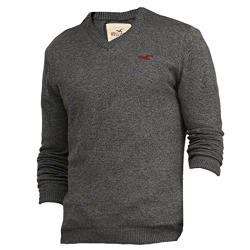 hollister-herren-v-neck-icon-sweater-pullover-grosse-medium-grau-623697123