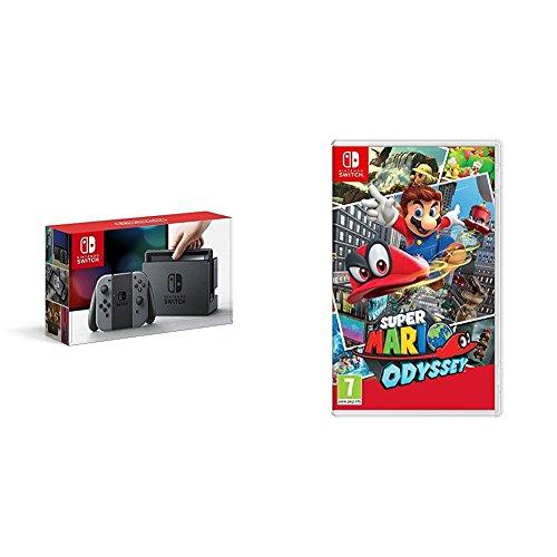 Nintendo Switch - Consola Color Gris + Super Mario Odyssey