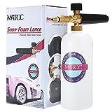 MATCC Schaumdüse 1L Schaumlanze Messing-Düse Schneeschaum Schaumpistole Hochdruckreiniger Snow Foam