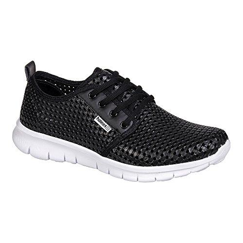 Holees Roamer Chaussures De Sport Homme - Confort (Noir - Blanc)