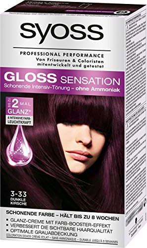 Syoss Gloss Sensation Intensiv-Tönung 3-33 Dunkle Kirsche, 3er Pack (3 x 115 ml)