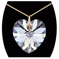 14MM Diamond White Genuine Swarovski Crystal Elements & Solid Gold 16