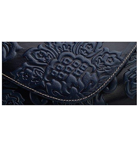 Keshi - Sac à main femmes - Porté MAIN et EPAULE cuir De Vache Bleu Foncé