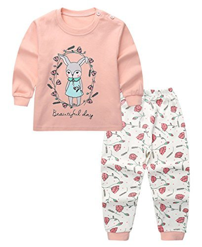 08f83b8830e8 44% OFF on Unisex Baby Boys Girls 2-Piece Cotton Pajama Sleepwear Outfits  Set(12-18 Months on Amazon