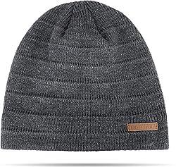 warme Wintermütze mit Schafwolle - Wollmütze - Strickmütze für Damen und Herren Farbe Sudbury/Grau-meliert