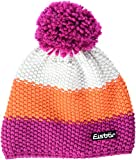 Eisbär Star Neon Pompon Mütze, deep pink/lightorange/White, One Size