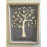 Custom Made & personalizado familia árbol de la vida árbol de madera enmarcado 3d de pared Arte