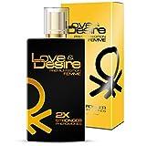 Love & Desire Oro Premium Edition feromonas para mujeres 100 ml Fantastische nuevo Aroma. Ganar bonitas de hombres 4 Pheromones en 1 Perfume... ...