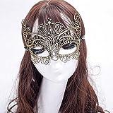 Igemy élégant Couronne Dentelle Cut vénitien Halloween Ball Masquerade Masque de luxe doré