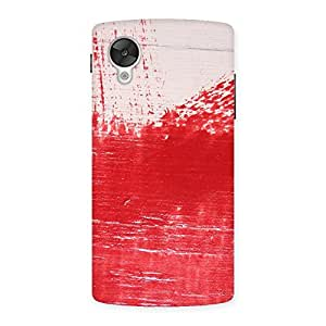 Red Wood Texture Back Case Cover for Google Nexsus 5