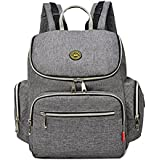 Imyth Diaper Bag Travel Backpack Handbag Shoulder Bag Large Capacity Fit Stroller (Gray)