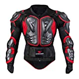 IMJONO Jacket,2019 Neujahrs Karnevalsaktion Mann Mantel Motorrad Full Body Armor Jacket Motocross Racing Spine Chest Chest Coat Coat(Large,Rot)(Medium,Schwarz)