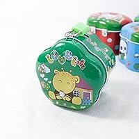 Preisvergleich für Whyyudan Spardose Geschenkbox Geld Banken Simple Wave Side Spardose Neu Weißblech Aufbewahrungsbox mit Schloss (Grün)