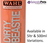 500ml Wahl Showman Dirty Beastie Cane/Cavallo Shampoo Grooming