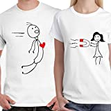 #7: DreamBag Couple T Shirts - Magnet Couple Unisex Couple T-Shirts