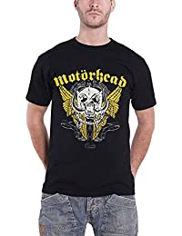 Motorhead Shirt Warpig Wings band logo Official Mens Black