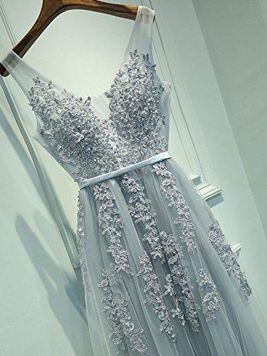 brand new 64ced 7825c Babyonline Damen Rückenfrei Spitze Tüll Abendkleid Lang Ballkleid Hochzeit  Brautjungfernkleid mit Träger