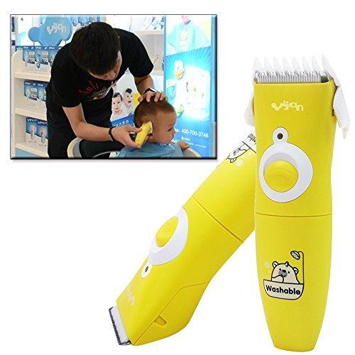 Anself Professional Mini Bébé Enfants Cheveux Clipper Tondeuse électrique Outil de coiffure tondeuse