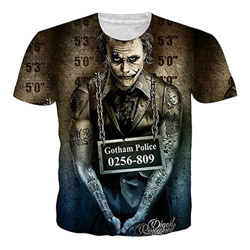 EUR Tallas Grandes Joker Camiseta Summer Skull Print Camisetas 3D Hombre Mujer Hip Hop Camiseta Homme Ropa Camiseta Hombre