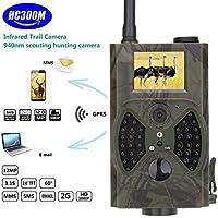 Wildlife Kameras - 2.0 Zoll 12MP 1080P HD Infrarot PIR Nachtsicht GSM / GPRS / MMS / SMS Outdoor IP54 Wasserdicht Wildlife Trail Jagd Spiel Kamera Scouting Portable Spy Überwachungskamera (HC300M)