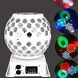 LED PAR Licht Disco Lichteffekte PA Licht RGB Stroboskop DJ Musikgesteuert Scheinwerfer La-Cakus Bühnenbeleuchtung Discokugel Partylicht Disco Ball Light für Partei, Feier, Bar, Weihnachten, Hochzeit