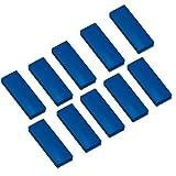 10x Faxland Magnete rechteckig, Blau 54x19 mm, Haftmagnete für Whiteboard, Kühlschrankmagnet, Magnettafel, Magnetwand, Magnet