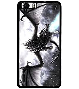 ColourCraft Fire Breathing Dragon Design Back Case Cover for HUAWEI HONOR 6
