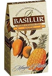 Basilur Pure Ceylon Black Tea with papaya, pineapple Magic Fruits 'Exotic' loose, 100 gr