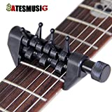 OxGrow (TM) Negro Flanger FA 20Spider–Cejilla para portátil Alternativa Tuning Cejilla para guitarra accesorios