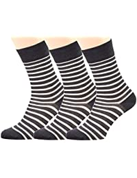 Loonysocks, 3 Pair of Our Best Business Socks Made of Super Soft Ascona Merino Wool, Mens