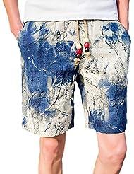 V-SOL Pantalones Corto para Hombre Verano Playa Estampado