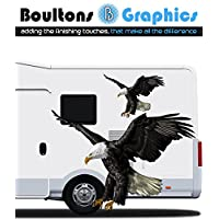 Pair Eagle Motorhome Sticker - Camper Car Graphic Caravan Horsebox Vinyl Decals