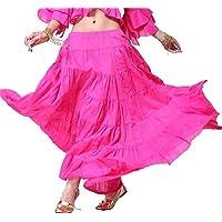 Donne Danzawea Long Danza del ventre Gonne Tribal Swing Danza Costumes Maxi Gonne