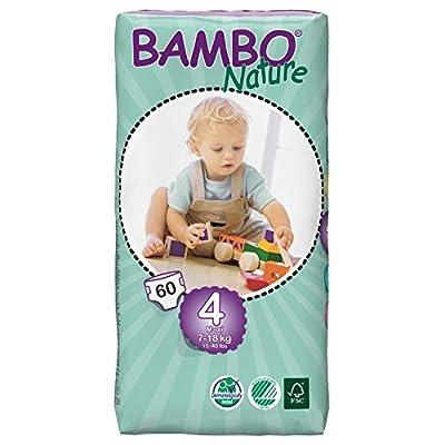 Bambo – 7015 – Pañales Ecológicos Bambo Maxi T4 60 uds